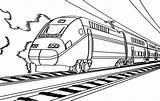 Train Coloring Electric Railroad sketch template