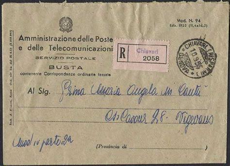 ufficio postale vigevano storia postale italiana