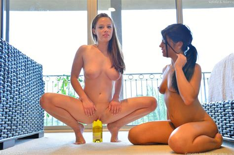Bottle goes into pussy and dildo slides in the ass of cuties Adriana Chechik and - Pichunter