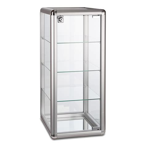 glass display cabinet with lock aluminium glass display cabinet with 3 shelves
