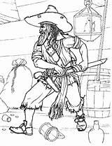 Pirate Coloring Pirates Colorkid Boys Pirata sketch template