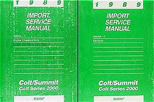1989 Colt Station Wagon Repair Shop Manual Original 2 Volume Set
