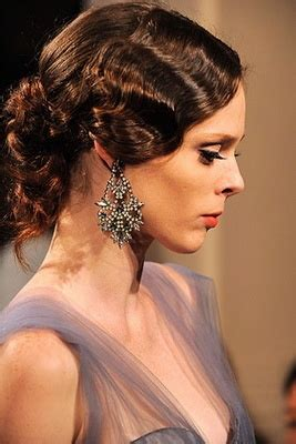 Finger Wave Updo Hairstyles by Wedding Updo Hairstyles Zac Posen Finger Wave