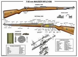 Poster 24 U0026quot X36 U0026quot  Mauser K98 Rifle Manual Exploded Parts