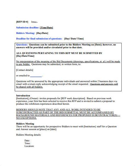 Bid For Sle Bid Template 12 Free Documents In Pdf Word