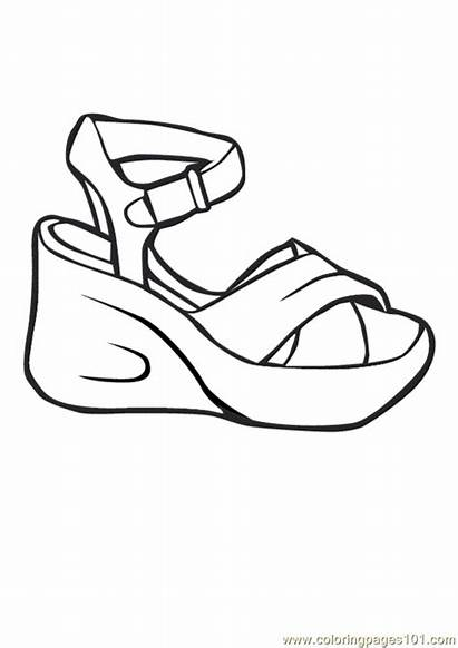Coloring Shoes Pages Printable Shoe Booties Heels