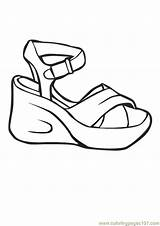 Coloring Shoes Pages Printable Shoe Heels Heel Booties Boy Template Coloringpages101 Nike Getcoloringpages Pdf Entertainment sketch template