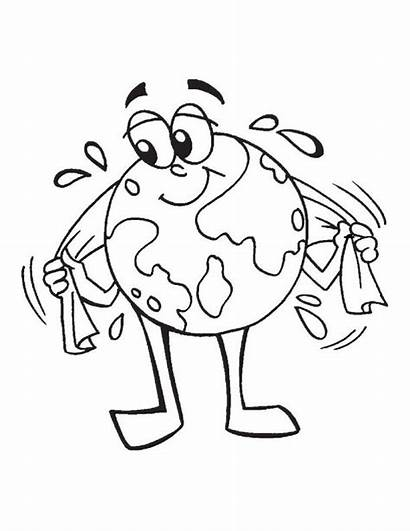 Earth Coloring Pages Clean Sheets Planet Printable