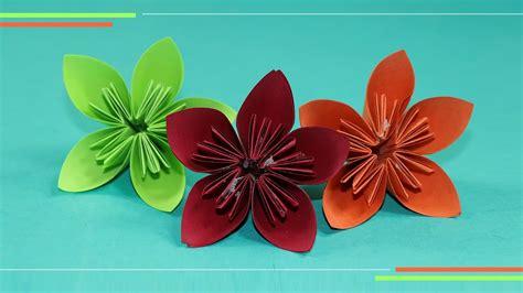 origami kusudam flower    paper flowers easy