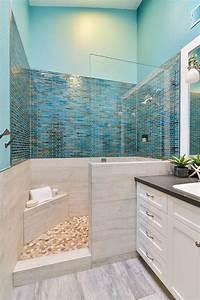 Deco Salle De Bain Carrelage : 1001 designs uniques pour une salle de bain turquoise ~ Melissatoandfro.com Idées de Décoration