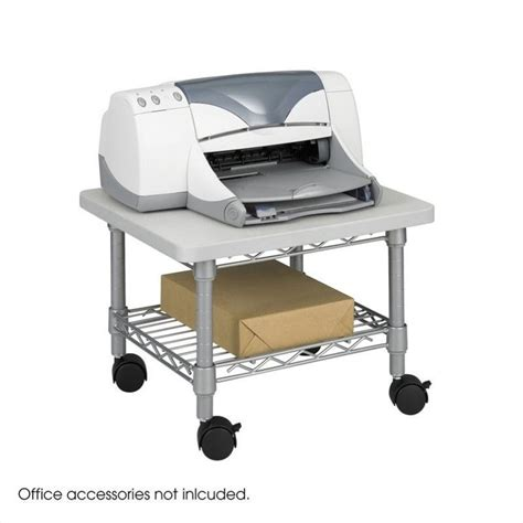 under desk printer cart under desk printer fax stand in gray 5206gr