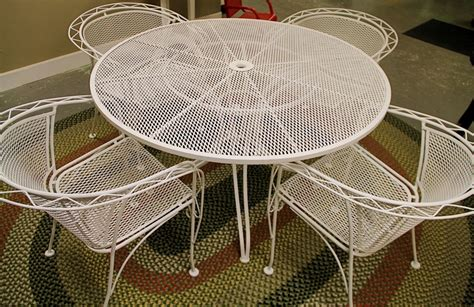 found in ithaca 187 vintage metal patio set with removable