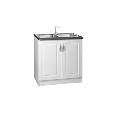 evier cuisine 80 cm meuble de cuisine sous evier 2 portes 80 cm dina mélaminé
