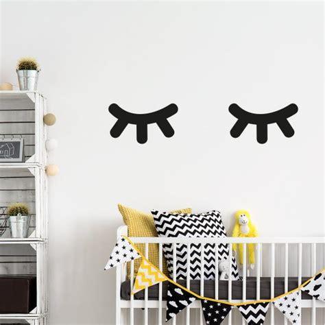 slapende ogen muurstickers kies kleur formaat gratis