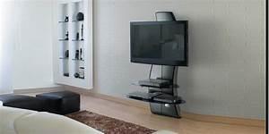 Support Verre Suspendu : meliconi ghostdesign2000 noir meubles tv meliconi sur easylounge ~ Teatrodelosmanantiales.com Idées de Décoration