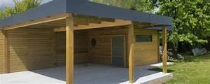 Carport Avec Abri : carport bois et abri jardin bois secteur villeneuve d 39 ascq lillewood conception ~ Melissatoandfro.com Idées de Décoration
