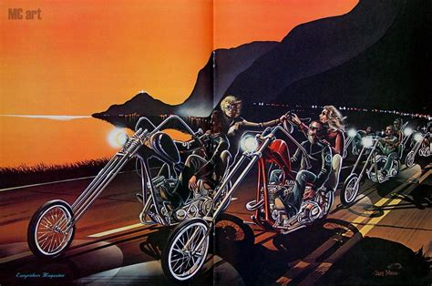 David Mann Motorcycle Art Wallpaper