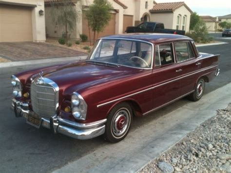 Buy Used Clasic Mercedes Benz 1966 230 S Red Restored Mint