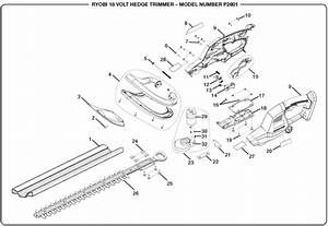 Ryobi P2601 18 Volt Hedge Trimmer Parts And Accessories