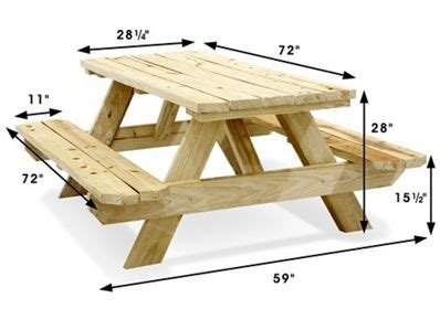 economy  frame wooden picnic table    uline