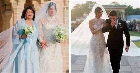 Priyanka Chopra Wedding Dress : Priyanka Chopra Got Hidden Messages Sewn Into Her Wedding