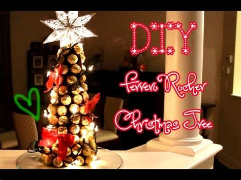 roche christmas tree diy ferrero rocher tree