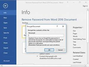 How to recover a password protected word document for Word documents remove password