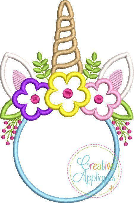 unicorn horn crown monogram applique creative appliques embroidery monogram fonts unicorn