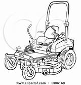 Mower Lawn Clipart Cartoon Ride Riding Illustration Clip Drawing Vector Turn Zero Coloring Pages Lafftoon Royalty Drawings Sketch Template Cliparts sketch template