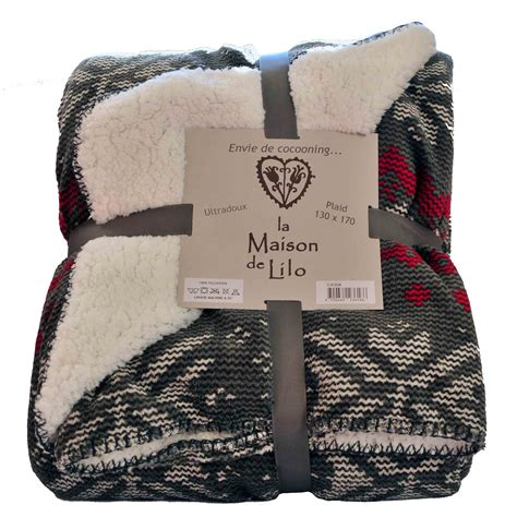 la maison de lilo plaid fa 231 on tricot alaska doubl 233 sherpa la savoie en direct