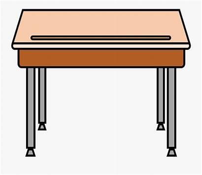 Desk Clipart Clip Table Cliparts Classroom Transparent