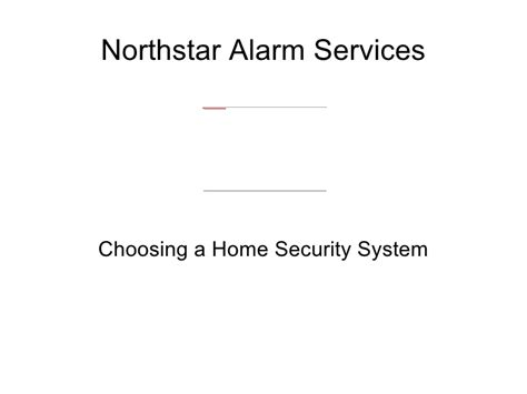 Choosing A Home Security System With Northstar Alarm