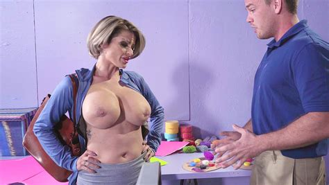 Busty Stepmom Strips In The Presence Of Her Stepson And