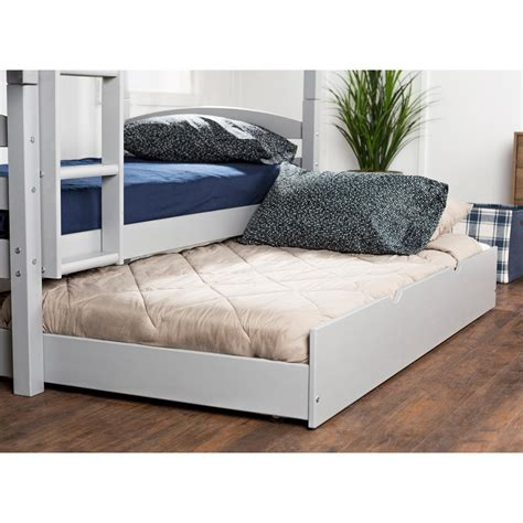 In addition, the twin bed frame's headboard allows youto sit comfortably there, perfect for sitting on this bed to read the books or playing an ipad.</p> <p>4.modern design</p> <p>with a gray headboard design and solid wood foundation, this contemporary style twin size bed frame will look classic in any bedroom. Walker Edison Furniture Company Grey Solid Wood Twin ...
