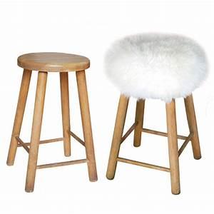 Tabouret A Poils : housse de tabouret pure peau de mouton top moumoute de fab design ~ Teatrodelosmanantiales.com Idées de Décoration
