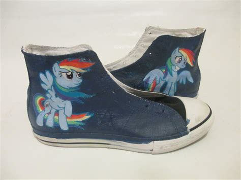Rainbow Dash High Tops (converse) By Acrylicolt On Deviantart