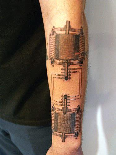 top   science tattoos  men manly design ideas