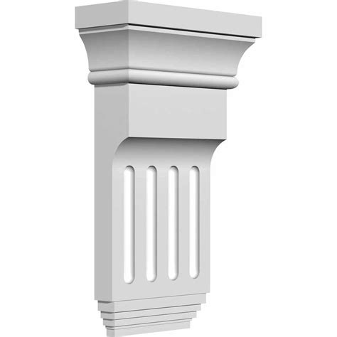 Exterior Corbels ekena millwork 6 in x 2 in x 10 3 8 in polyurethane