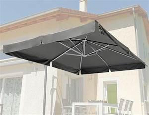 Toile Pour Parasol Déporté : toile de remplacement pour parasol d port marina gris galet oogarden france ~ Teatrodelosmanantiales.com Idées de Décoration