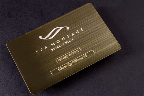 gold metal business cards luxury printing