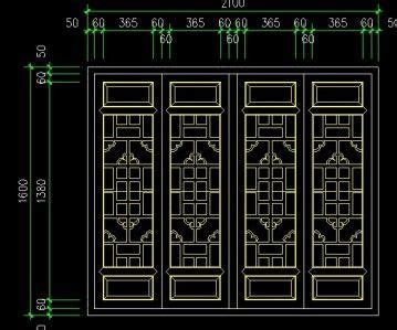 chinese window lattice autocad drawings cad blocks