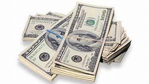 Money Money Money  Cash Flies As Armored Truck Doors Open