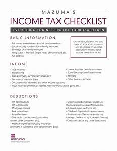 income tax checklist what your accountant needs to file With documents taxes checklist