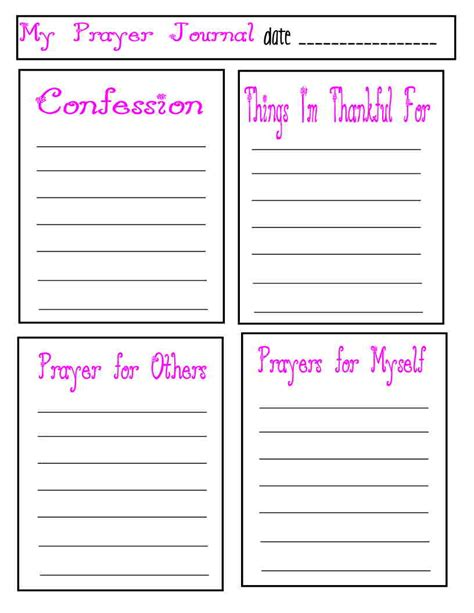 Prayer Journal Template 301 Moved Permanently