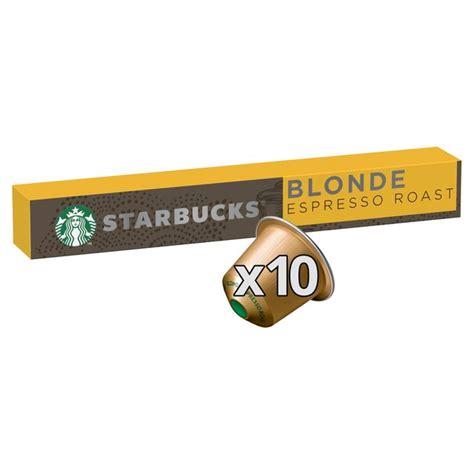 Made from 100% arabica coffee beans. Starbucks Blonde Espresso Roast by Nespresso Coffee Pods x 10 | Morrisons