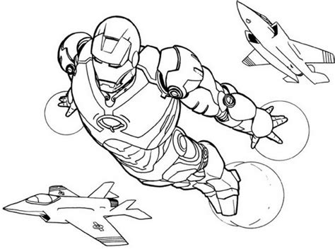 Iron Man 21 Superheroes Printable Coloring Pages