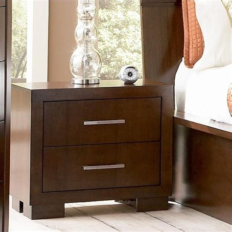 Two Drawer Nightstand by Coaster Two Drawer Nightstand In Light Cappuccino Finish