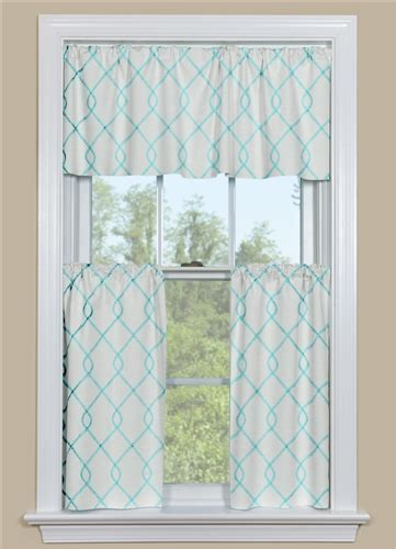 Aqua Kitchen Curtains & Valance   Rico Aqua