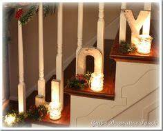 Banister Decorations Christmas & Winter