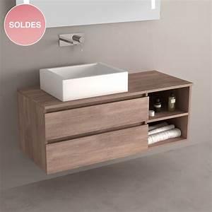 meuble salle de bain soldes cobtsacom With meuble vasque soldes